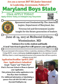 MD Boys State Info Flyer